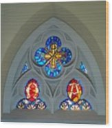 Loretto Chapel Stained Glass Wood Print