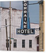 Lorraine Hotel Sign Wood Print