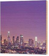 Los Angeles At Dusk Wood Print