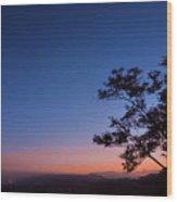 Los Angeles At Night Wood Print