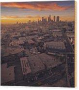 Los Angeles At Sunset Wood Print