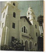 Beverly Hills Church Wood Print