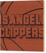 Los Angeles Clippers Leather Art Wood Print