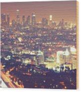 Los Angeles Wood Print by Dj Murdok Photos