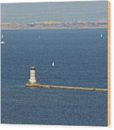 Los Angeles Harbor Light - Angel's Gate - California Wood Print