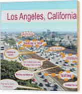 Los Angeles Highway To Heaven Wood Print