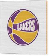 Los Angeles Lakers Retro Shirt Wood Print