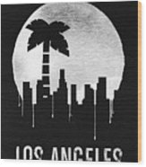 Los Angeles Landmark Black Wood Print