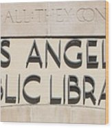 Los Angeles Public Library 0588 Wood Print