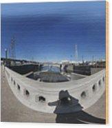 Los Angeles River Washington Avenue Bridge North Wood Print