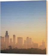 Los Angeles Sunset Wood Print by Eric Lo