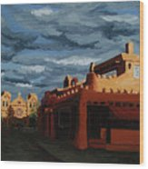 Los Farolitos,the Lanterns, Santa Fe, Nm Wood Print