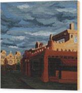 Los Farolitos,the Lanterns, Santa Fe, Nm Wood Print by Erin Fickert-Rowland