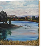 Los Gatos Lake Wood Print