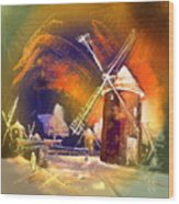 Los Molinos Del Quijote 01 Wood Print