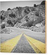 Los Padres Country Highway Wood Print