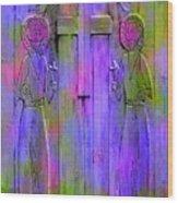 Los Santos Cuates - The Twin Saints Wood Print