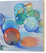 Lose Your Marbles Wood Print