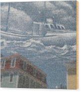 Lost At Sea Wood Print