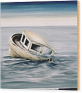 Lost At Sea Contd Wood Print