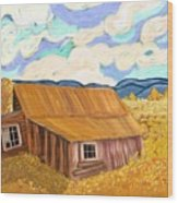Lost Cabin In The Mountains Wood Print by Sydne Archambault