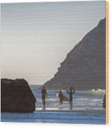 Lost Coast Surfers Wood Print