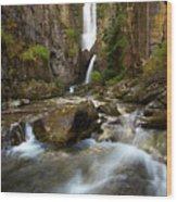 Lost Falls Wood Print