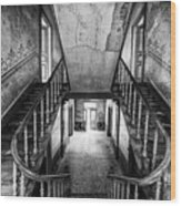 Lost Glory Staircase - Abandoned Castle Wood Print