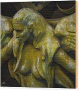Lost Golden Angel Wood Print