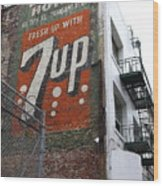 Lost In Urban America - El Rosa Hotel - Tenderloin District - San Francisco California - 5d19351 Wood Print by Wingsdomain Art and Photography