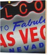 Lost In Vegas Wood Print