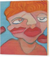 Lost Lips Wood Print