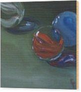 Lost Marbles No. 2 Wood Print