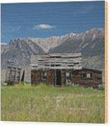 Lost River Range Cabin Wood Print