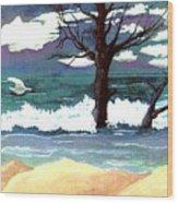 Lost Swan Wood Print