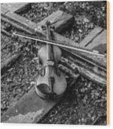 Lost Violin Wood Print