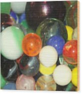 Lost Your Marbles Wood Print