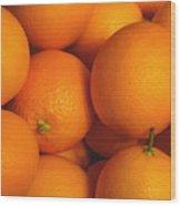 Lots Of Oranges Wood Print