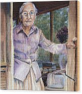 Lottie The Faithful Servant Wood Print