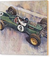 Lotus 25 F1 Jim Clark Monaco Gp 1963 Wood Print