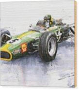 Lotus 49 Ford F1 Jim Clark Wood Print by Yuriy  Shevchuk