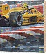 Lotus 99t 1987 Ayrton Senna Wood Print by Yuriy  Shevchuk