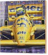 Lotus 99t Spa 1987 Ayrton Senna Wood Print by Yuriy  Shevchuk