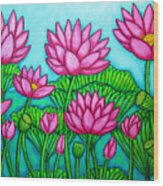 Lotus Bliss II Wood Print by Lisa  Lorenz