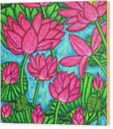 Lotus Bliss Wood Print