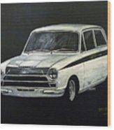 Lotus Cortina Wood Print