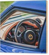 Lotus Evora S Steering Wheel -1858c Wood Print