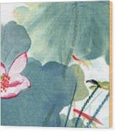 Lotus Figure Wood Print