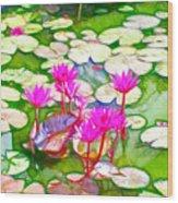 Lotus Flower 3 Wood Print