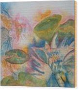 Lotus Flower Abstract Wood Print